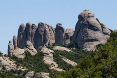 Montserrat-Berge stockfoto