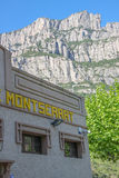 Montserrat building and mountain view, Spain Royalty Free Stock Photos