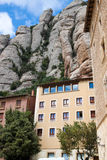 Montserrat building and mountain view, Spain Stock Image