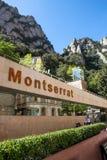Montserrat byggnads- och bergsikt, Spanien Arkivfoto