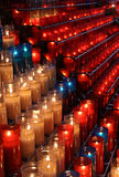 Montserrat candle shrine Stock Photos