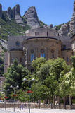 Montserrat - Catalonia - Spain. Monestir de Montserrat in Catalonia in Spain. The monestery dates from the 9th century and is home to monks of a Benedictine Stock Image