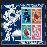 Montserrat Chrismas 1977 stamps. Stock Photos