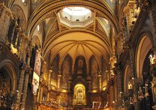 Montserrat church Royalty Free Stock Images