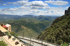 Montserrat-cremallera Stockfotografie