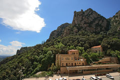Montserrat cremallera (funicular) station Stock Photo