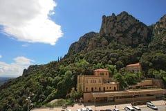 Montserrat-cremallera (funikuläre) Station Stockfoto