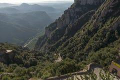 Montserrat-Drahtseilbahnlinie Stockbild
