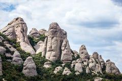 Montserrat en Espagne Images libres de droits