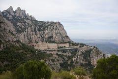 Montserrat es una montaña cerca de Barcelona, en Cataluña Foto de archivo