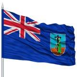 Montserrat Flag on Flagpole Stock Image