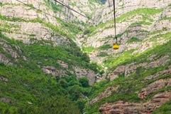 Montserrat funicular. Hiszpania Zdjęcie Stock