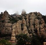 Montserrat góry w mgle obraz royalty free