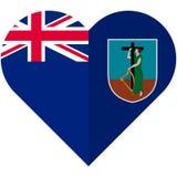 Montserrat heart flag Stock Photography