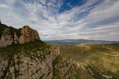 Montserrat, Hiszpania, Wrzesień 20th, 2016: widok na Serra De Collards dolinie Zdjęcie Stock
