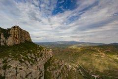 Montserrat, Hiszpania, Wrzesień 20th, 2016: widok na Serra De Collards dolinie Fotografia Royalty Free