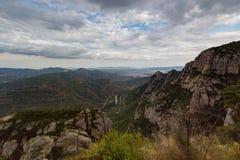 Montserrat, Hiszpania, Wrzesień 20th, 2016: widok na Serra De Collards dolinie Obraz Stock