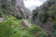 Montserrat im regnerischen Wetter Lizenzfreie Stockbilder