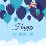 Montserrat Independence Day Flat Greeting Card. Royalty Free Stock Photography