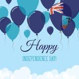 Montserrat Independence Day Flat Greeting kort Stock Illustrationer