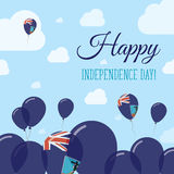 Montserrat Independence Day Flat Patriotic Design. Royalty Free Stock Photography