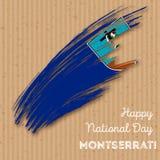 Montserrat Independence Day Patriotic Design Fotografia Stock Libera da Diritti