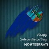 Montserrat Independence Day Patriotic Design. Stock Photography
