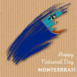 Montserrat Independence Day Patriotic Design. Royalty Free Stock Images