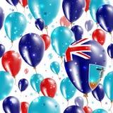 Montserrat Independence Day Seamless Pattern Fotografia Stock Libera da Diritti