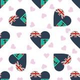 Montserrat Independence Day Seamless Pattern Fotografia Stock