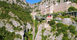 Montserrat klooster luchtmening