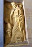 Montserrat kloosterbeeldhouwwerk, Spanje royalty-vrije stock fotografie