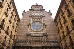 Montserrat kloster Arkivfoto