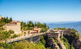 Montserrat kloster i Catalonia, Spanien Arkivbild