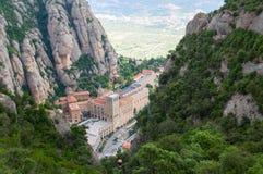 Montserrat-Kloster. Katalonien, Spanien Lizenzfreies Stockbild