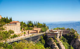 Montserrat-Kloster in Katalonien, Spanien Stockfotografie