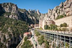 Montserrat-Kloster, Spanien Stockbild