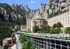 Montserrat kloster, Spanien, abbotskloster, catalonia, barcelona, montering Arkivbilder