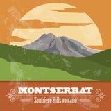 Montserrat landmarks. Retro styled image Stock Image