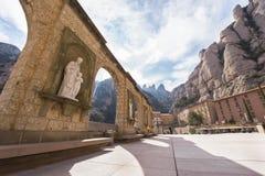 Montserrat. Landscape in Montserrat abbey vicinity. Catalonia, Spain royalty free stock images
