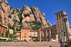 Montserrat - Mönche eines große Schönheitsgebirgsschutz Benediktiners, n Stockfotografie