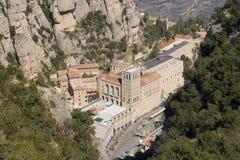 Montserrat Monastery. Aerial view of Monastery of Santa Maria of Montserrat, Catalonia Stock Photo