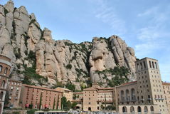 Montserrat Monastery royalty free stock images