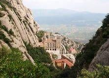 Montserrat monastery. In mountain, Spain Stock Image