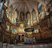 Montserrat Monastery Fotografie Stock Libere da Diritti
