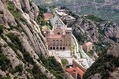 Montserrat Monastery from Above Stock Photo