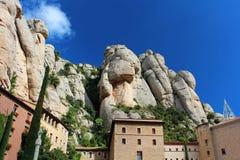 Montserrat Monastery, Barcelona, Spain Stock Images
