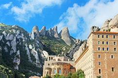 Montserrat Monastery is a beautiful Benedictine Abbey Stock Photography