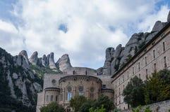 Montserrat Monastery. The Benedictine monastery of Santa Maria de Montserrat on the Montserrat mountain lies 45km from Barcelona in Spain Royalty Free Stock Photography