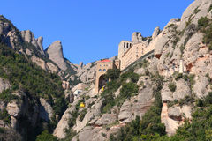 Montserrat monastery (Catalonia, Spain) Stock Photo